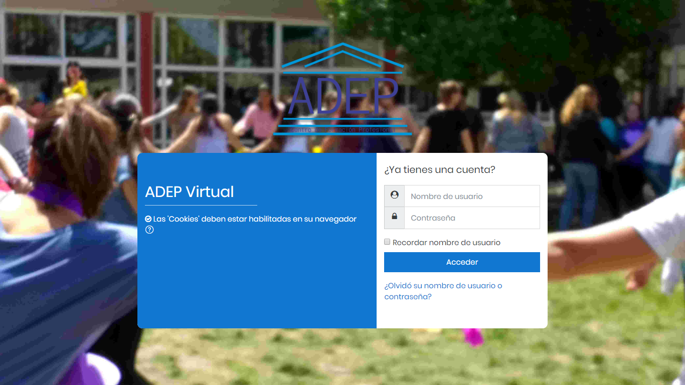 Log in ADEP Virtual